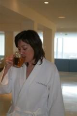 Tea drinking atLanserhof
